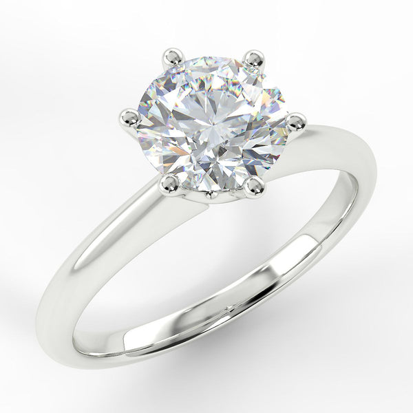 Eco 13 Round Brilliant Cut Solitaire Diamond Ring
