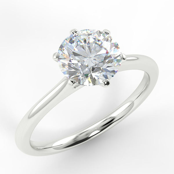 Eco 14 Round Brilliant Cut Solitaire Diamond Ring