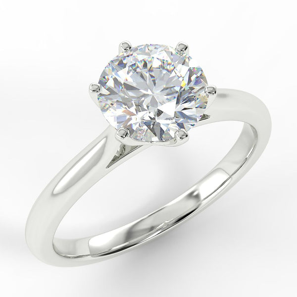 Eco 15 Round Brilliant Cut Solitaire Diamond Ring