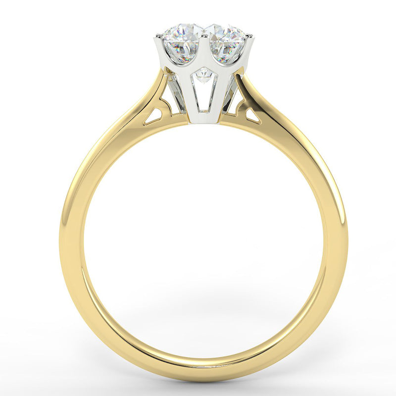 Eco 16 Round Brilliant Cut Solitaire Diamond Ring