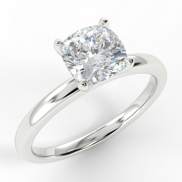 Eco 1 Cushion Cut Solitaire Diamond Ring