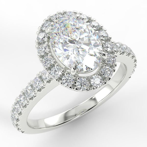 Eco 1 Oval Cut Halo Diamond Ring