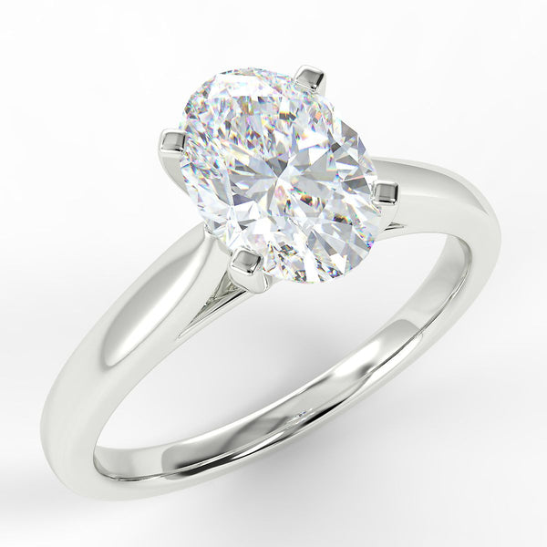 Eco 1 Oval Cut Solitaire Diamond Ring