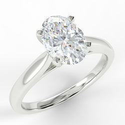 18ct White Gold Eco 1 Oval Cut Solitaire Diamond Ring with 1.01-CARAT Oval DIAMOND