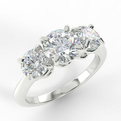 Eco 1 Round Brilliant Cut 3 Stone Diamond Ring