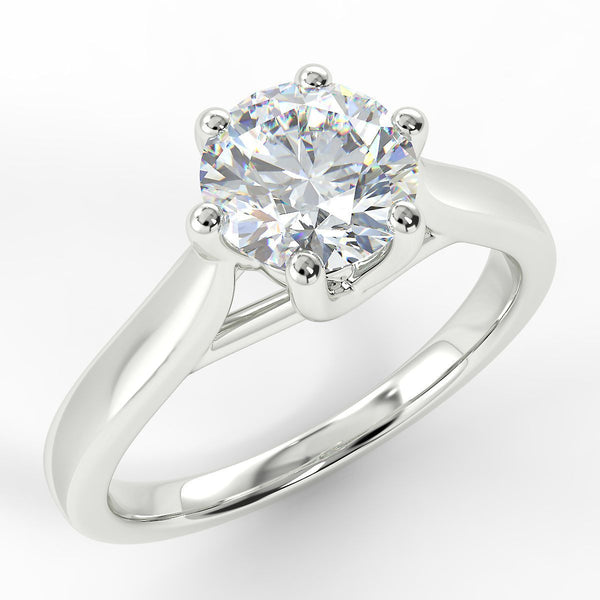 Eco 1 Round Brilliant Cut Diamond Solitaire Ring