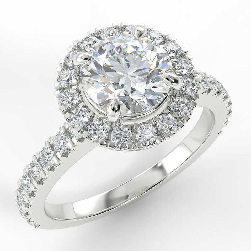 Eco 1 Round Brilliant Cut Diamond Halo Ring