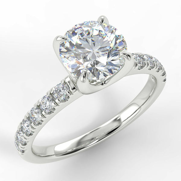 Eco 1 Round Brilliant Cut Side diamond Ring