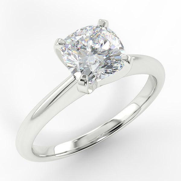 Eco 2 Cushion Cut Solitaire Diamond Ring