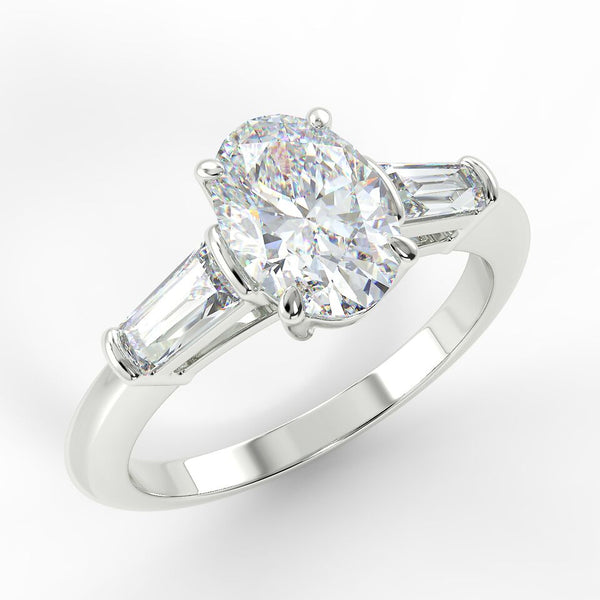 Eco 2 Oval Cut 3 Stone Diamond Ring