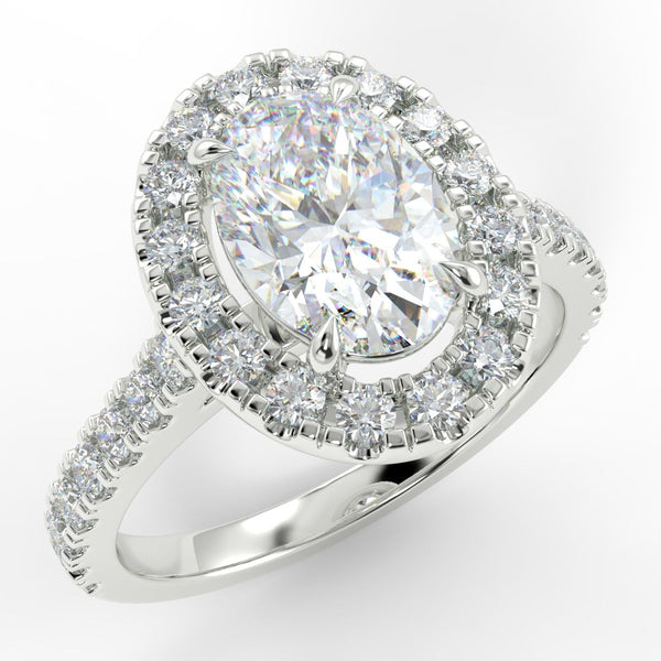 Eco 2 Oval Cut Halo Diamond Ring
