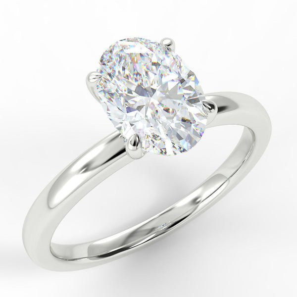 Eco 2 Oval Cut Solitaire Diamond Ring