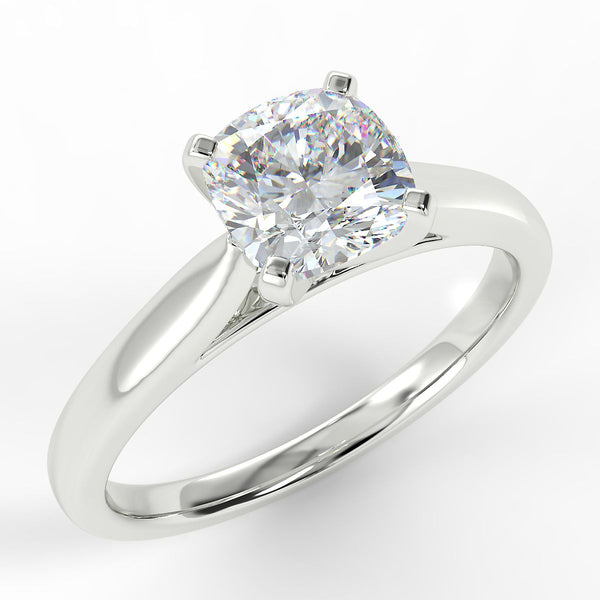 Eco 3 Cushion Cut Solitaire Diamond Ring