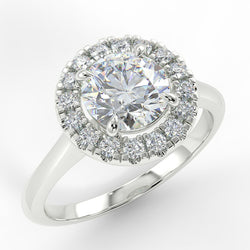 Eco 3 Round Brilliant Cut Halo Diamond Ring
