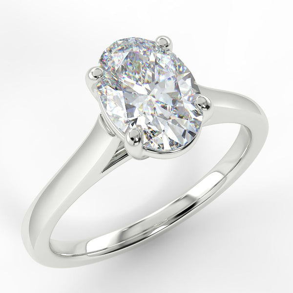 Eco 4 Oval Cut Solitaire Diamond Ring