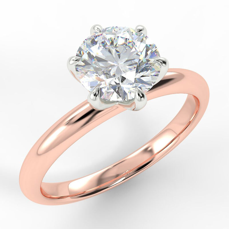 Eco 4 Round Brilliant Cut Solitaire Diamond Ring