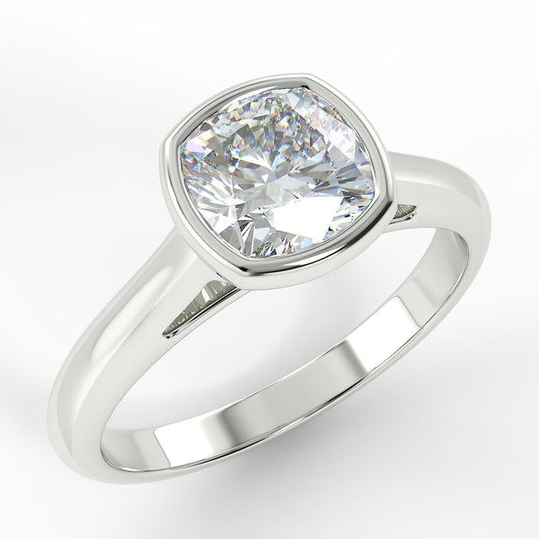Eco 5 Cushion Cut Solitaire Diamond Ring