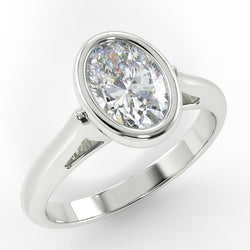Eco 5 Oval Cut Solitaire Diamond Ring