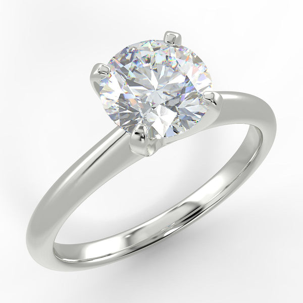 Eco 6 Round Brilliant Cut Solitaire Diamond Ring