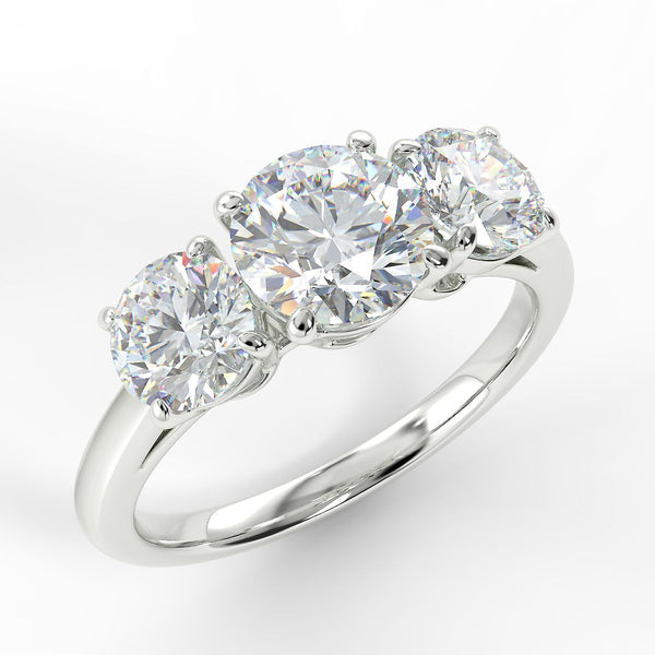 Eco 7 Round Brilliant Cut 3 Stone Diamond Ring