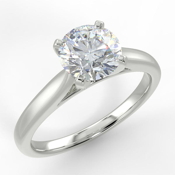 Eco 7 Round Brilliant Cut Solitaire Diamond Ring