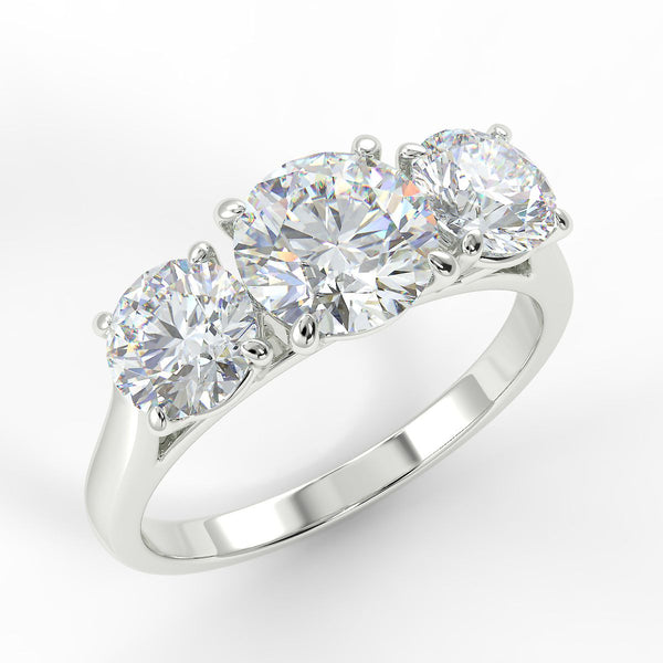 Eco 8 Round Brilliant Cut 3 Stone Diamond Ring