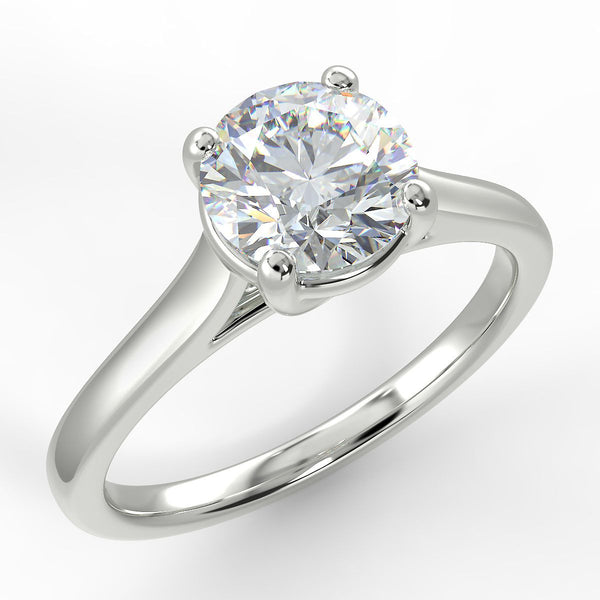 Eco 8 Round Brilliant Cut Solitaire Diamond Ring