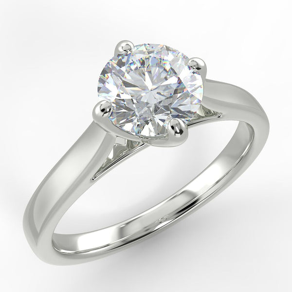 Eco 9 Round Brilliant Cut Solitaire Diamond Ring