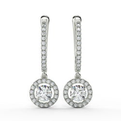 Eco drop lab grown diamond halo earrings