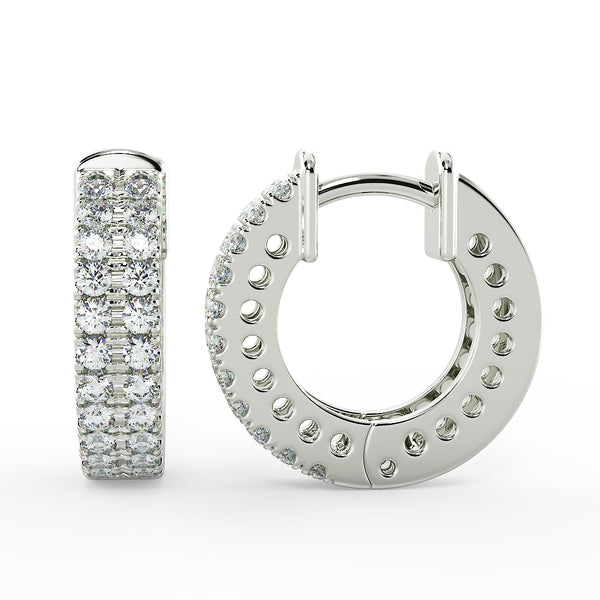 Eco hoop lab grown diamond earrings