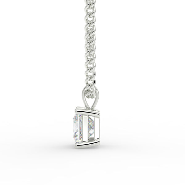 Eco 3 princess cut lab grown diamond pendant
