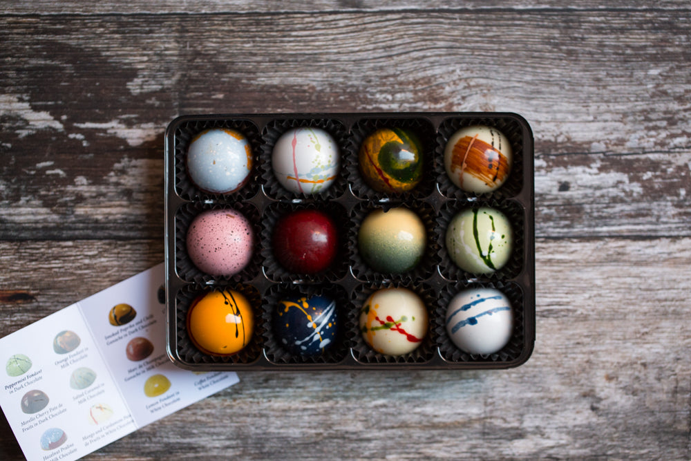 12 Luxury Handcrafted Chocolates