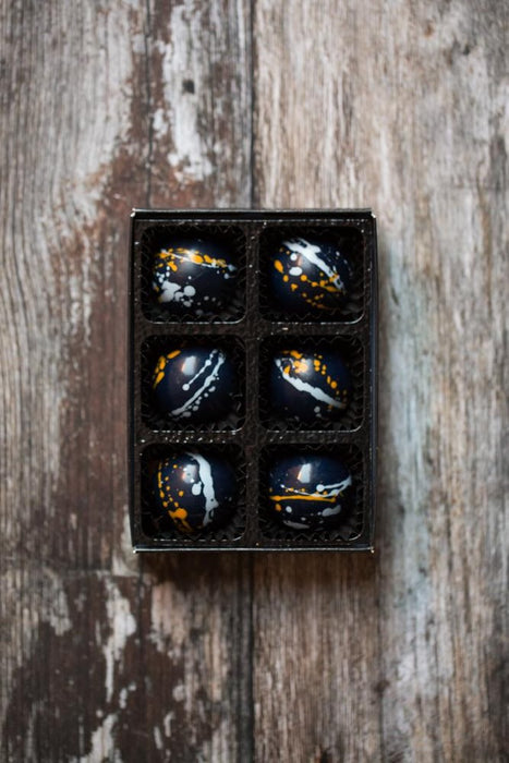 6 Luxury Handcrafted Soft Chewy Toffee Chocolates