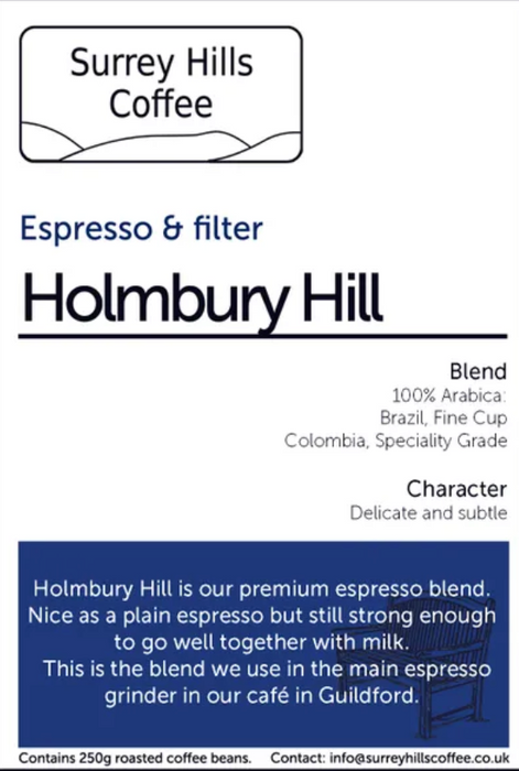 HOLMBURY HILL ESPRESSO/FILTER, 250G BEANS