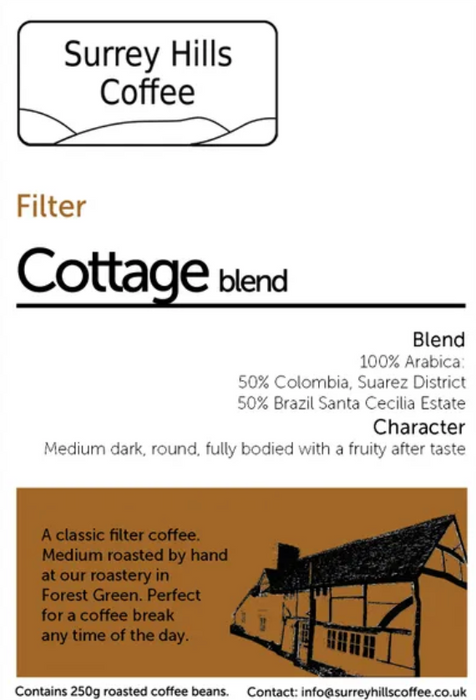 COTTAGE BLEND FILTER, 250G BEANS