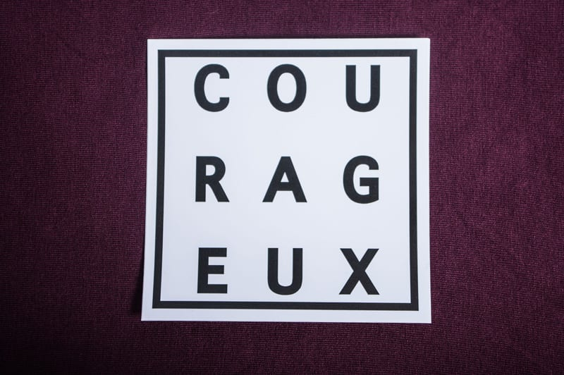 Vaughn de Heart Courageux Sticker 1