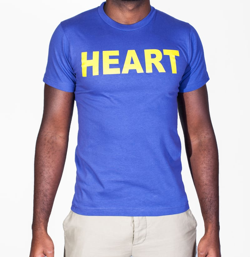 Vaughn de Heart Purple and Yellow Heart Lakers Front