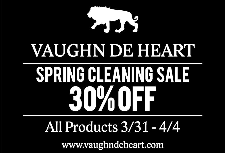 30% off of everything at the Spring Cleaning Sale Vaughn de Heart flyer