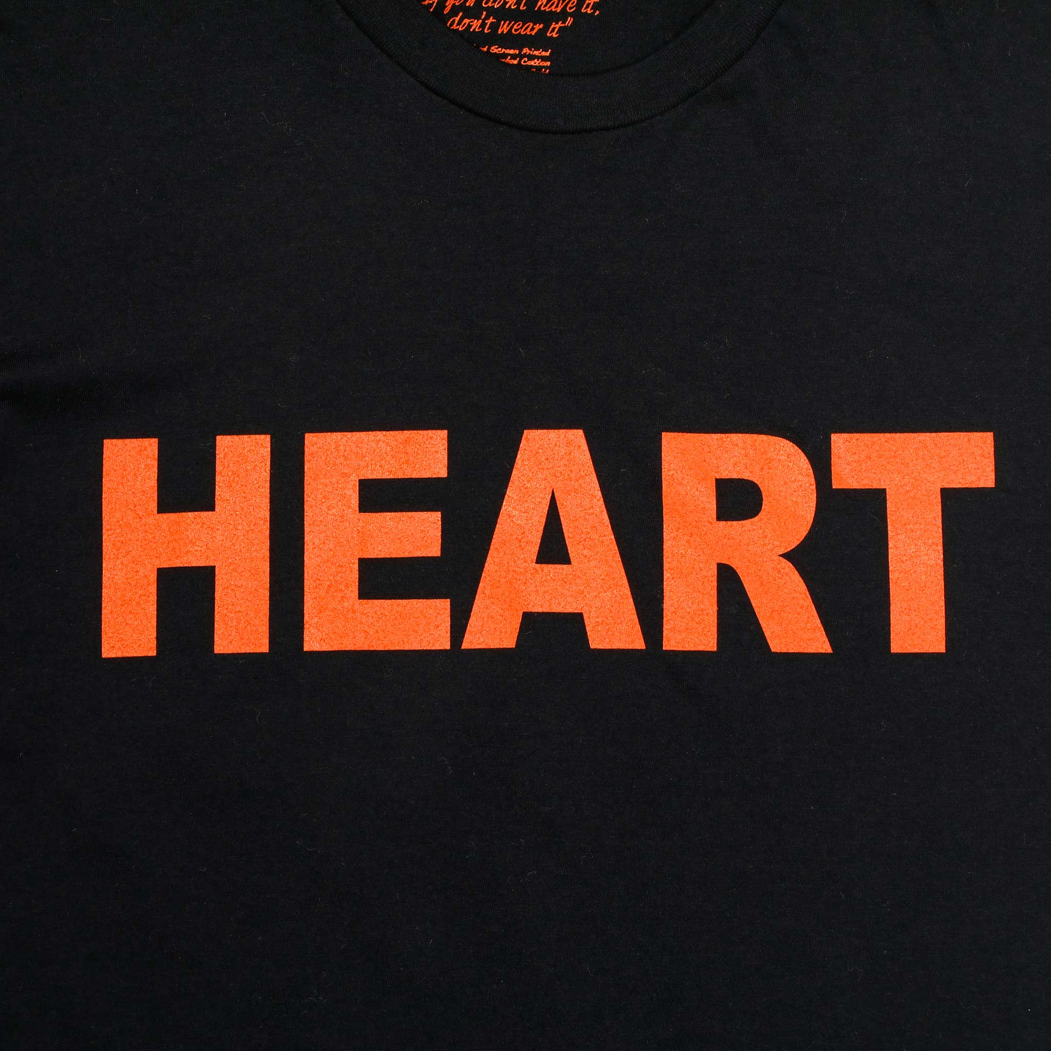Heart Black and Orange