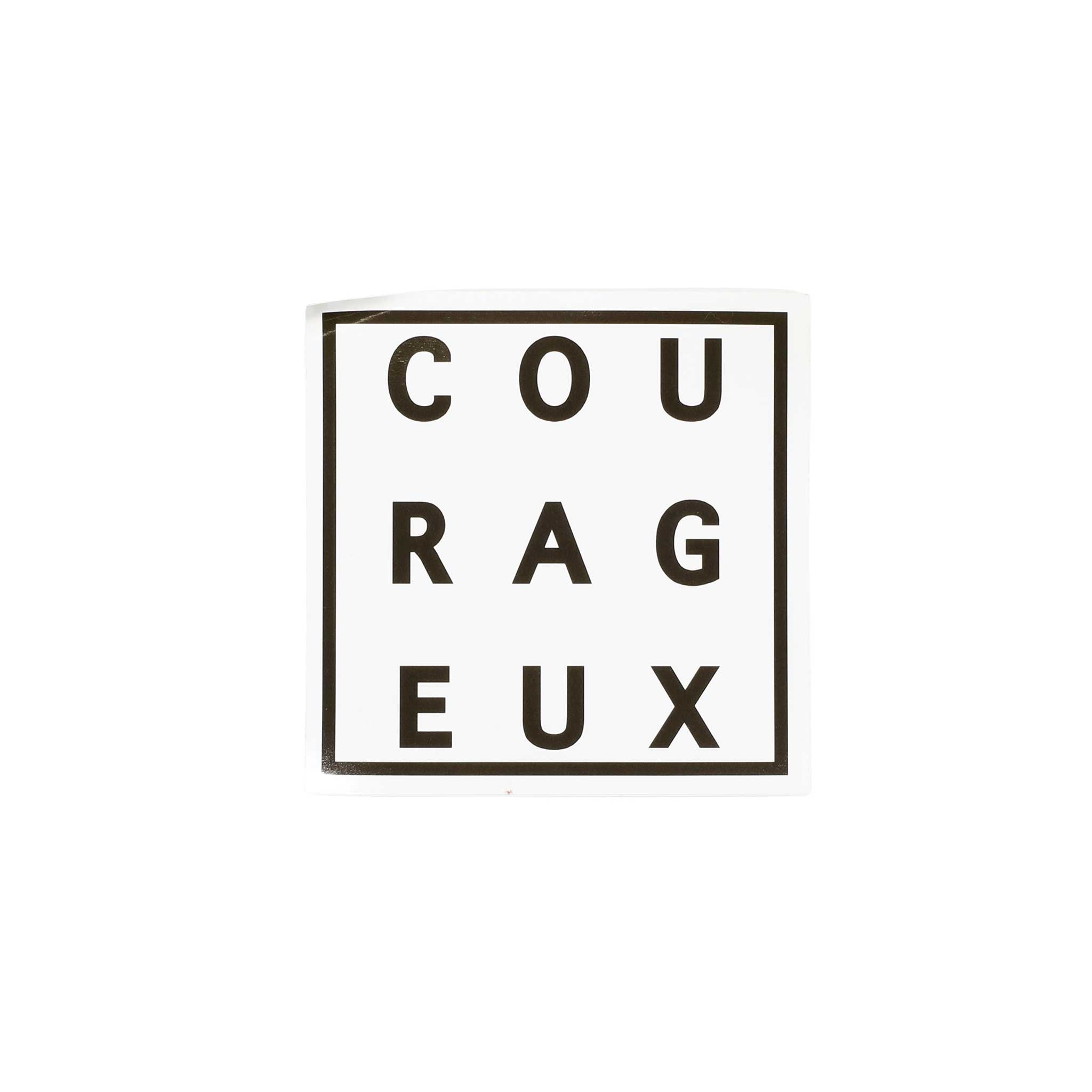 COURAGEUX Sticker