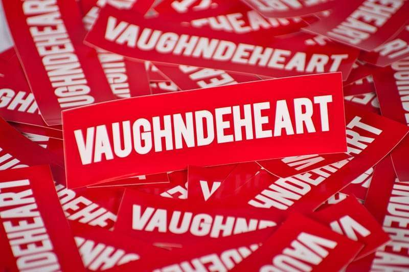Vaughn de Heart Box Logo Sticker - Vaughn de Heart