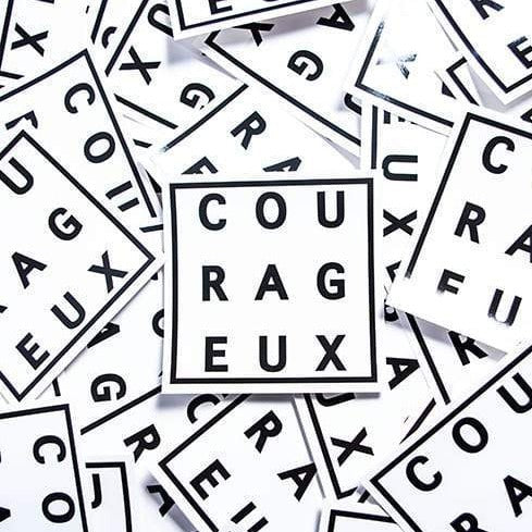 COURAGEUX Sticker - Vaughn de Heart