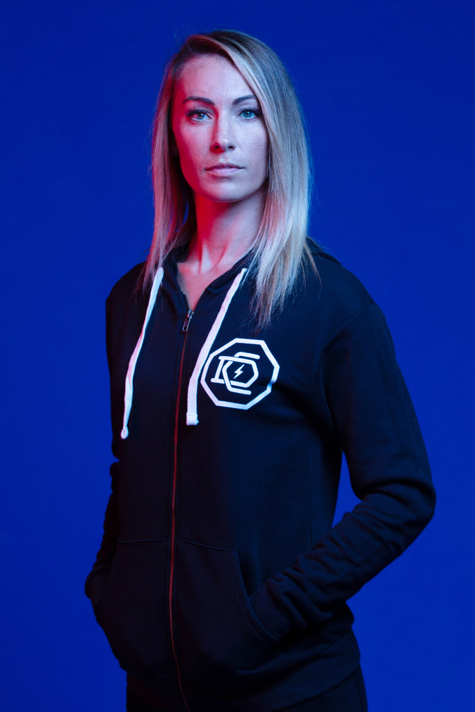"Dominick Cruz ""Circle Emblem"" Adult Lightweight Zip Hoodie"
