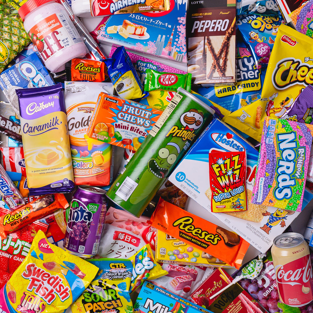 American Candy panarama mixed with australian and Japanese sweets