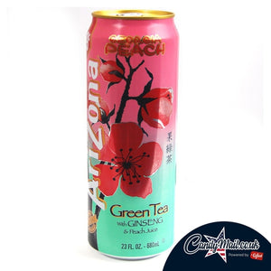Arizona Green Tea with Ginseng and Georgia Peach 680ml - Candy Mail UK