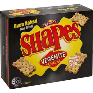 Arnotts Shapes Vegemite and Cheese 185g - Candy Mail UK