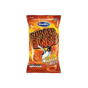 Bluebird Burger Rings 120g - Candy Mail UK
