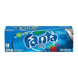 Case of Fanta Berry Soda 12x355ml - Candy Mail UK