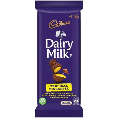 Dairy Milk Tropical Pineapple (Australian) 180g - Candy Mail UK
