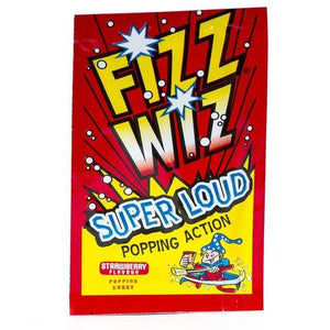 Fizz Wizz Strawberry Popping Candy 4.9g - Candy Mail UK